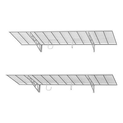 "SafeRacks 48"" x 18"" Wall Shelves (2-Pack) - White"