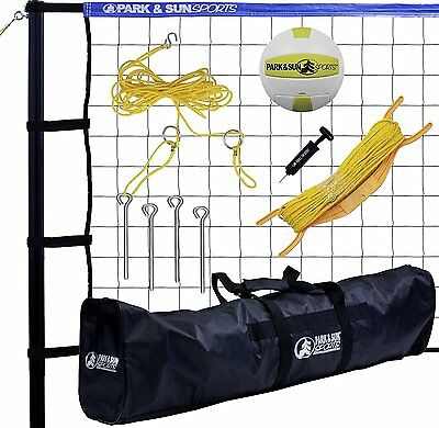 Volleyball Net System Portable Outdoor Beach Sports Game Play Training W Bag Bal