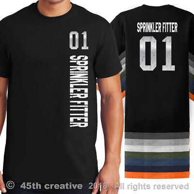 Sprinkler Fitters Sport Jersey T Shirt - #1 pipe sprinkler fitter jersey shirt
