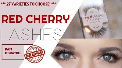 Red Cherry Eyelashes 100% Human Hair False High Quality Lashes TOP QUALITY UK!!!