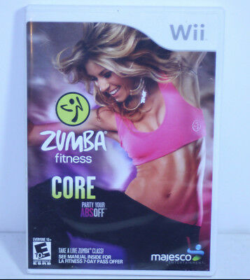 Zumba Fitness Core Party Your Abs Off (Nintendo WII, 2012) GAME IN CASE COMPLETE