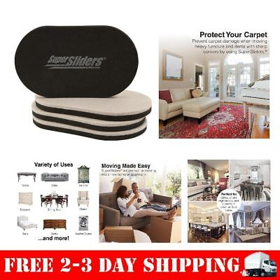 Furniture Sliders Pads Movers Carpet Wood Floors EZ Moving Heavy Household  NEW!