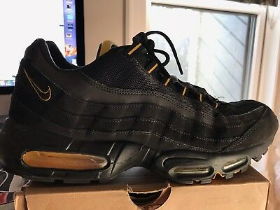 best service 69cf2 9493a NIKE AIR MAX 95 JD SPORTS Premium Black Yellow Size US MENS 13 9/10