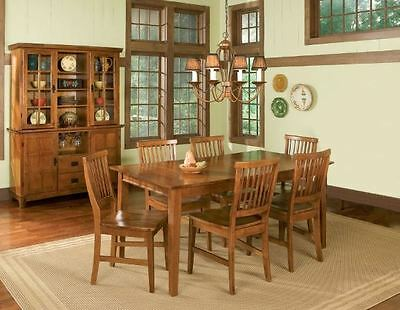 Discount Furniture Country Cottage Oak Wooden Dining Table Set with Four Chairs