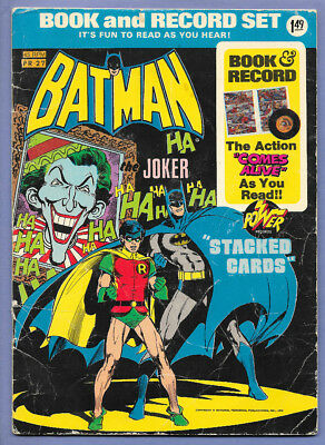 1975 Dc Comics Book & 45 Rpm Record Set Pr-27 Batman Trumping The Joker