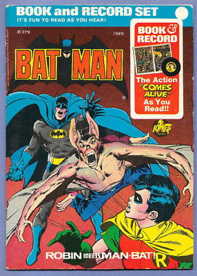 "1976 Dc Comics Book & 45 Rpm Record Set Pr-30 Batman ""robin Meets Man-Bat"""