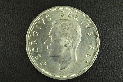 1952 South Africa 5 Shillings, Uncirculated But Cleaned, 37