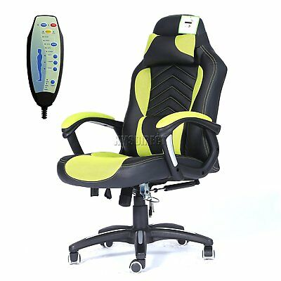 FoxHunter Luxury 6 Point Massage Office Computer Chair Reclining Swivel High and