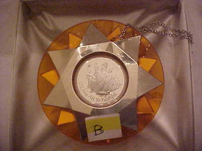 Franklin Mint Sterling Silver Christmas Ornament 1973