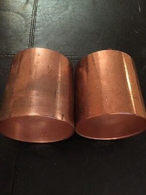 "Copper Coupling 4"" Size (2 PC)"