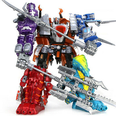 5 In 1 Metal Large Size Dianoser Robot Combination Truck Transformers Toys Robot