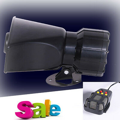 DC12V Car Truck Alarm Police Fire Loud Speaker PA Siren Horn MIC System Kit GOOD