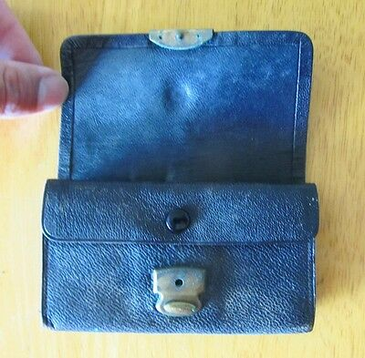 Small vintage leather wallet circa 1930's distressed