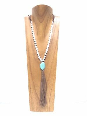 20 inches High Candy Brown Color Wood Necklace Display