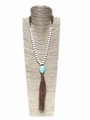 20 inches High Sea Grass wrapped Wood Necklace Display