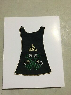 American Girl Doll Nellie Retired IRISH Lucky Charm Outfit DANCE APRON ONLY