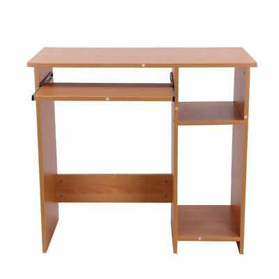 Wooden Computer Desk Basic Home Office Table Workstation Wood PC Laptop Beech