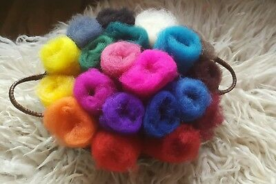 Felting wool, Needle felting,Wet felting or spinning 20 colors / Wolle 20 Farben