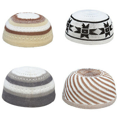 1x Mens Islamic Prayer Cap Muslim Men Hat Topi Kufi Head WearMen's  Cap