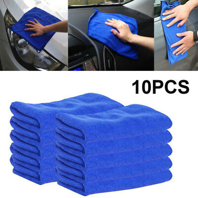 10Pcs Microfiber Cleaning Cloth No-Scratch Rag Car Polishing Detailing Towel