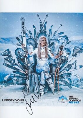 LINDSEY VONN 2 Olympia 2018 USA Foto 20x30 signiert IN PERSON Autogramm signed