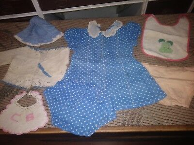 7 Pc Vintage Mid Century Antique Baby Toddler Clothes Lot