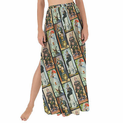 Haunted Mansion Stretch Paintings Maxi Sarong Skirt