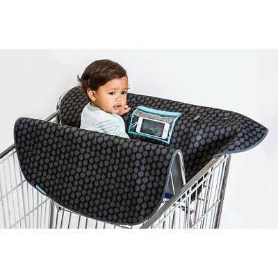Slim Neoprene 2-in-1 Shopping Cart/High Chair Cover with Device Activity Pocket