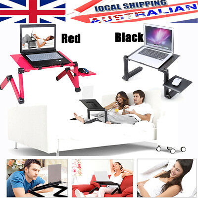 360° Adjustable Folding Laptop Notebook PC Table Stand Desk Vented Bed Sofa Tray