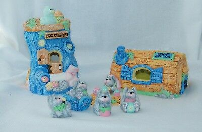 Accents Unlimited - Finished Hand Painted Easter / Bunny Hollow 7 Piece Set