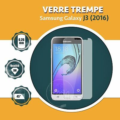 LOT X1 À X5: ViTRE FILM PROTECTION ÉCRAN EN VERRE TREMPÉ SAMSUNG GALAXY J3 2016