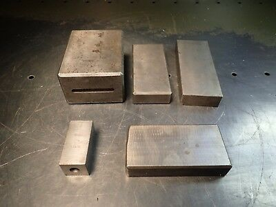 """5 Pieces Large Set Up & Gauge Gage Blocks Mill Shaper, up to 4"""" x 3"""" x 2"""", Used"""