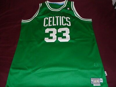 f6e457c9 Adidas Hardwood Classics Larry Bird #33 Boston Celtics Green / White Jersey  2Xl