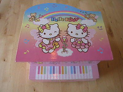 Sanrio Hello Kitty Mimmy Kitty Piano Musical Jewelry Box EUC Twinkle Twinkle