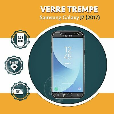 LOT X1 À X2: ViTRE FILM PROTECTION ÉCRAN EN VERRE TREMPÉ SAMSUNG GALAXY J7 2017