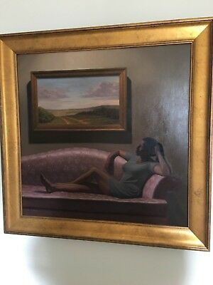 Framed Oil on Canvas Painting  by Mark H Brown beautiful