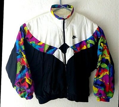 Old School 1990's Nike Track Jacket Zip Up WB large US 14  Clean Tennis Sweater