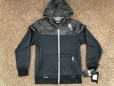 $50 - Brand New Hurley Nike Dri Fit Boy's Youth Therma Fit Full Zip Gray Hoodie