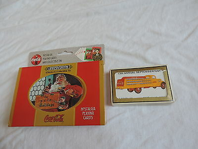 Coca Cola Coke Santa Claus Truck Playing Cards NEW (b531)