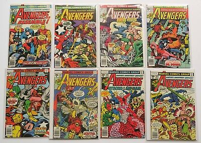The Avengers Marvel Comics Comic Book Lot of 19 1976