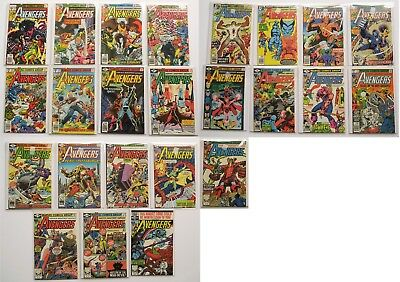 The Avengers Marvel Comics Comic Book Lot of 24 1978
