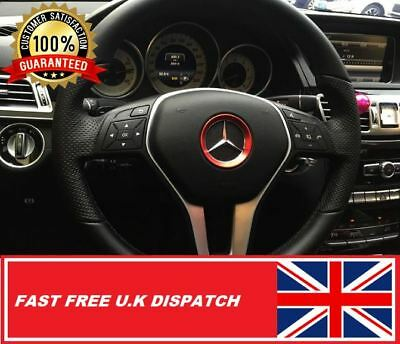 MERCEDES Steering Wheel Trim Ring RED Size 51mm Small E, A,GLA,GLK Class