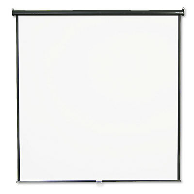 Quartet Wall or Ceiling Projection Screen 84 x 84 White Matte Black Matte Casing