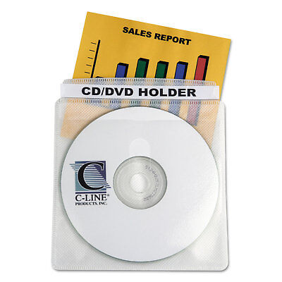 C-Line Deluxe Individual CD/DVD Holders 50/BX 61988