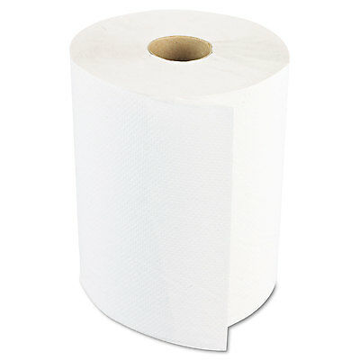 "Boardwalk Hardwound Paper Towels 8"" x 800ft 1-Ply White 6 Rolls/Carton 6254"