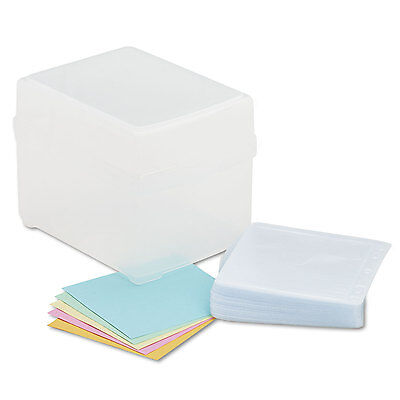 Innovera CD/DVD Storage Box Holds 100 Discs Clear 39400