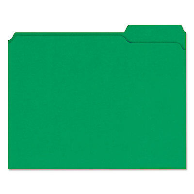 UNIVERSAL Colored File Folders 1/3 Cut Assorted Two-Ply Top Tab Letter Green 100