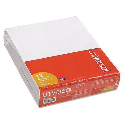 UNIVERSAL Scratch Pads Unruled 5 x 8 White 12 100 Sheet Pads/Pack 35615