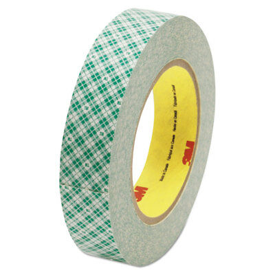 """3M Double-Coated Tissue Tape 1"""" x 36yds 3"""" Core White 410M"""