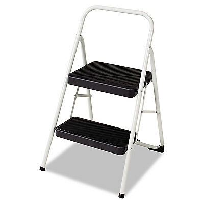Cosco 2-Step Folding Steel Step Stool 200lbs 17 3/8w x 18d x 28 1/8h Cool Gray
